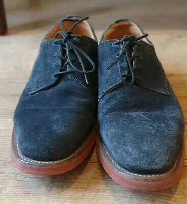 £20 • Buy Sanders UK 8F Made In England Blue Suede Shoes