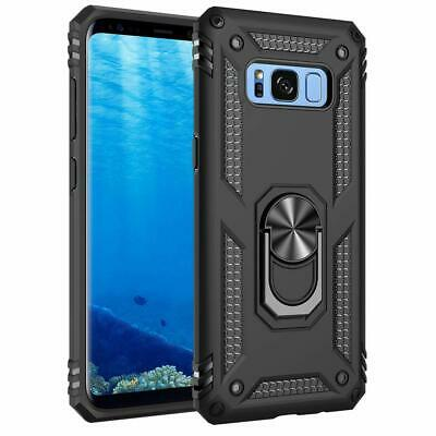 AU19.95 • Buy Black Samsung Galaxy S8 Protective 360 Degree Ring Stand Case