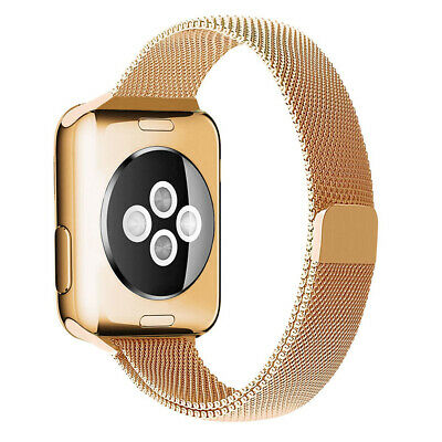AU29.95 • Buy Rose Gold Slim Milanese Band For Apple Watch (38mm, 40mm) Series 1/2/3/4/5/6/SE