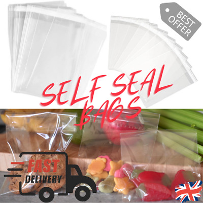 £3.49 • Buy Recon UP 100 Pcs Clear Self Sealing Cellophane Bags Cookies Bags 5 X 7 Inches