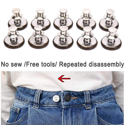 £3.70 • Buy 10pcs Pins For Jeans Instant Jean Button Pins For Pants Replacement Butt XV