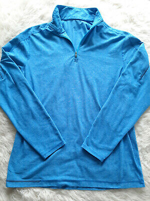 $ CDN60.65 • Buy Lululemon Women's Blue Long Sleeve Half-Zip Pullover Shirt Siz 12/XL