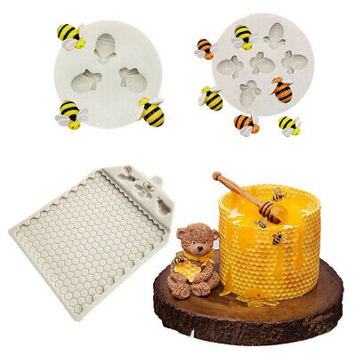 £5.19 • Buy Chocolate Baking Mat Border Mold Bee Comb Silicone Mould Cake Decorating Topper