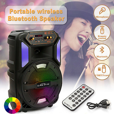 £29.99 • Buy 8  Portable Wireless Bluetooth Speaker Super Bass TF/AUX/MP3 Outdoor Party UK