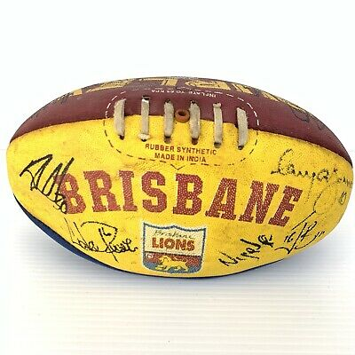 AU33.15 • Buy Brisbane Lions Signed AFL Football Autographed By Team Members RARE Memorabilia