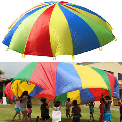 £9.94 • Buy 2/3/3.6m Kid Play Rainbow Parachute Outdoor Game Exercise Sport Group Ca