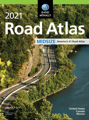 £9.99 • Buy 2021 USA Road Atlas Easy Finder Large Scale Travel Maps Paperback NEW