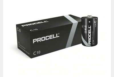 Duracell Procell C LR14 PC1400 Batteries | Box Of 10 • 8.99£