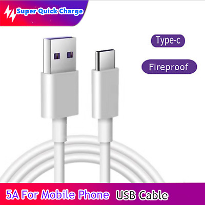 AU1.83 • Buy Super Quick Charge 5A USB Type C Cable Fast Charging Mobile Phone Data Cable 1M