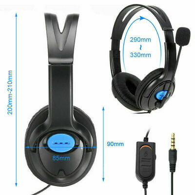 AU14.99 • Buy Headphones Wired With Mic Headset Gaming Earphone For Computer PC 3.5mm Jack AU