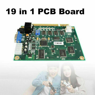 £28.73 • Buy 19 In 1 Horizontal Multicade Arcade Multigame PCB Board For Jamma Video Game