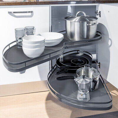 £135.95 • Buy Corner Carousel Pull Out Shelf Tray 900-1000mm Kitchen Cabinet Left Handed Open