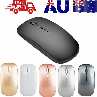 AU13.96 • Buy Optical Wireless Bluetooth 5.1 Slim Rechargeable Mouse For Laptop, Mac,iPad HG