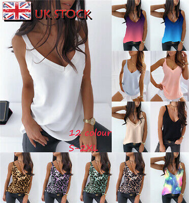 £6.99 • Buy Women Sleeveless Loose Vest T Shirt Ladies Summer Cami Camisole Blouse Tops Tee