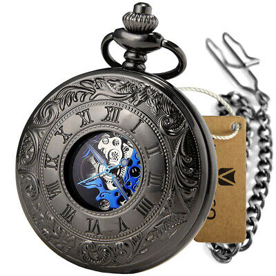 £16.59 • Buy Mechanical Pocket Watch Double Hunter Roman Numeral Vintage Antique Watches Gift