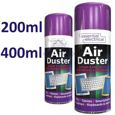 £6.45 • Buy 200ml / 400ml Compressed Air Can Duster Spray Protects Cleaner Laptops Keyboards