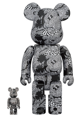 $881.30 • Buy BE@RBRICK Bearbrick Keith Haring Mickey Mouse 100% & 400% Limited Edit. Japan