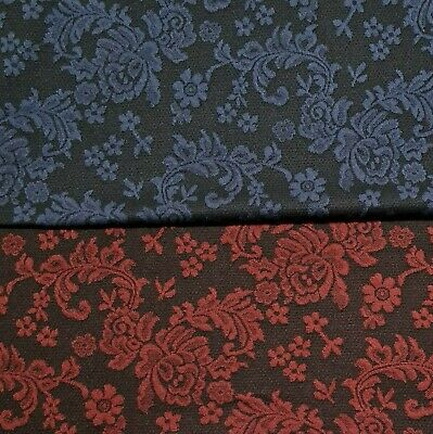 £5.99 • Buy Jacquard Knit Fabric Floral Dressmaking Double Knit Jersey Sold By The Metre
