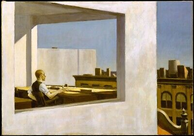 £21.99 • Buy Edward Hopper Office In A Small City Art Canvas Print 20x30 Inch Ready To Hang
