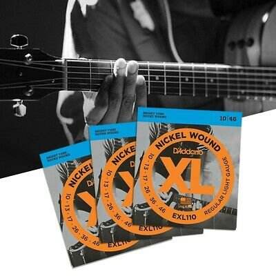 AU14.99 • Buy 3 Pack D'Addario EXL110 Electric  Guitar Strings 10-46 Light EXL110-3D Sets  AU