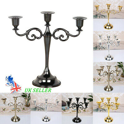 £14.13 • Buy 3/5 Arms Retro Candelabra Candlestick Wedding Candlelight Dinner Candle Holder