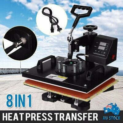 AU267.99 • Buy AU 8 In 1 Heat Press Machine Transfer Mug Hat Cup Sublimation Printer Printing