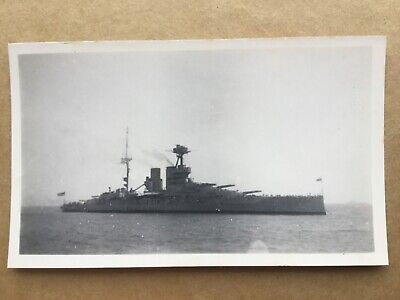 £4.99 • Buy HMS Warspite Battleship 1924 Starboard View Orig. Small Photo 11.2cm X 6.8cm