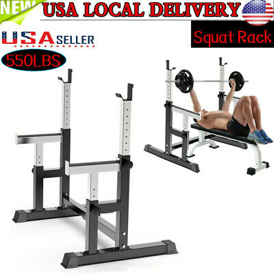 $ CDN150.59 • Buy Barbell Rack Adjustable Squat Rack Dipping Station Weight Bench Rack Workout US
