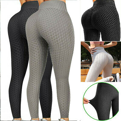 AU15.99 • Buy Women High Waist TikTok Leggings Ruched Anti-Cellulite Yoga Pants Gym Fitness AU