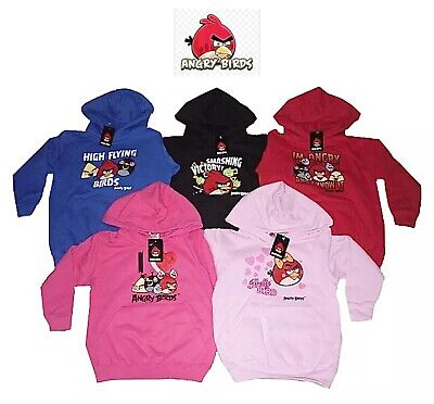 £8.49 • Buy Angry Birds Jumper/hoodie/hoody/sweater Red, Pink, Black,blue Size 5-14yrs