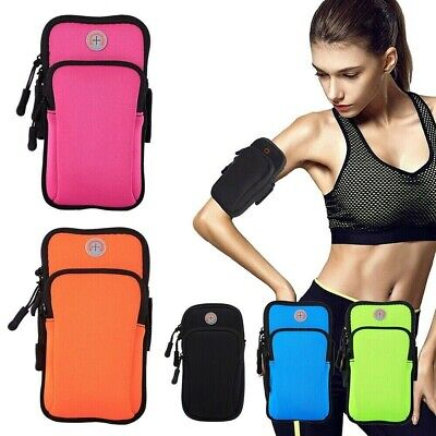 £3.69 • Buy Sports Armband Phone Holder Arm Band Case Gym Running Pouch Jogging Exercise Bag