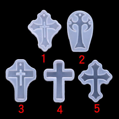 £3.29 • Buy Silicone 5 Crucifix Celtic Cross Mould Xmas Resin Cake Decor Jewelry Making Mold