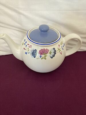 £6.99 • Buy BHS Priory Tableware Floral Patterned Large 2 Pint Teapot