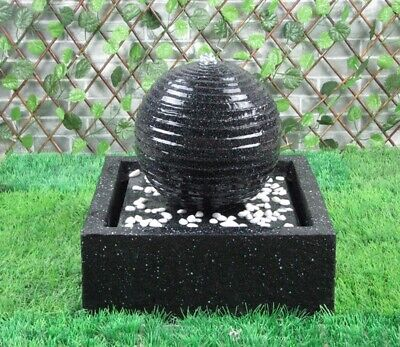 £127.99 • Buy Battery Backup Garden Outdoor Solar Powered Black Ball Water Fountain Feature