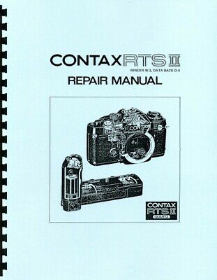 $ CDN18.15 • Buy Contax RTS-II Quartz Camera Body Repair Manual Reprint