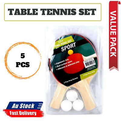 AU12.75 • Buy Table Tennis Ping Pong Includes 2 Rackets 5PCS Competition Balls