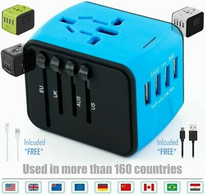AU19.99 • Buy Universal International Travel Adapter 4 USB Power Plug Charger Converter Socket