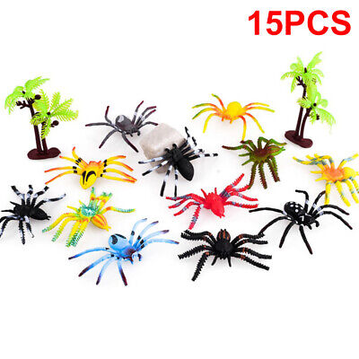 £5.98 • Buy 15pcs/Set Insects Bugs Spider Plastic Action Animal Model Figures Kids Toy Gifts