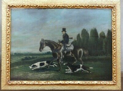 £400 • Buy Antique Oil Painting In Need Of Restoration, Hunting Scene James Lawrence Clarke