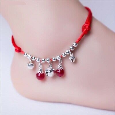 £2.99 • Buy Lucky Red Cord Bells And Beads Ankle Bracelet Adjustable  & Pretty Gift Bag