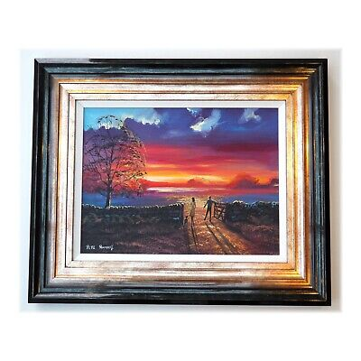 £390 • Buy Pete Rumney Original Canvas Art Painting Walk Into Sunlight Signed Frame Incl.