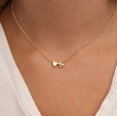 """£7 • Buy Silver """"B"""" Initial Letter Pendant Dainty Necklace"""