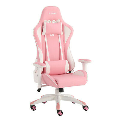 AU80.43 • Buy Gaming Computer Pc Chair Home Adjustable Racing Chair Pink White Ergonomic Chair