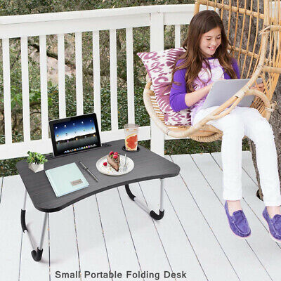 £9.78 • Buy Foldable Small Camping Table-Portable Folding Laptop Bed Tray Breakfast Desk UK