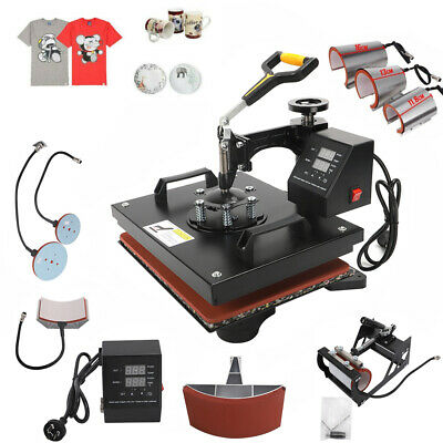 AU299 • Buy 8 In 1 Digital Heat Press Transfer T-Shirt Mug Hat Sublimation Printing Machine