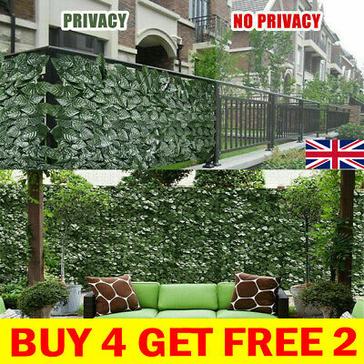£8.39 • Buy Artificial Hedge Ivy Leaf Garden Fence Roll Privacy Screen Balcony Wall Cover UK