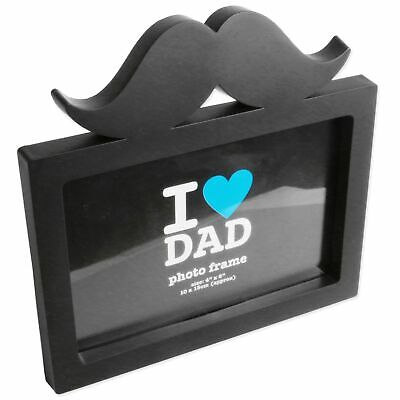£3 • Buy FATHERS DAY FRAME 4x6  Moustache Picture Photo Holder Dad Boyfriend Husband Gift