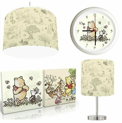 £19.99 • Buy CLASSIC WINNIE THE POOH Choose From Lampshade, Lamp , Wall Art , Clock Or Bundle