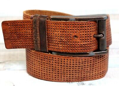 $17.99 • Buy Fossil PERFORATION BROWN GENUINE LEATHER 1.5 Wd CASUAL DRESS MEN'S BELT 36 (G10