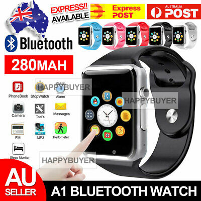 AU13.95 • Buy A1 Bluetooth Smart Watch For Android IPhone Samsung Kids Tracker Camera New